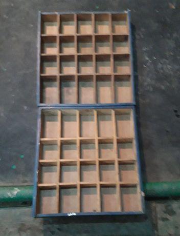 Ящики деревянные с ячейками для мелочевки