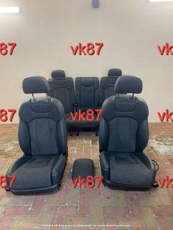 Audi q7 4m s line салон кожа сиденья 5/7 мест