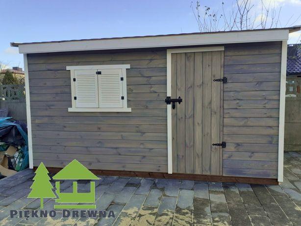 Domek Narzędziowy Bartek 4x2 Dach jednospadowy Piękno Drewna