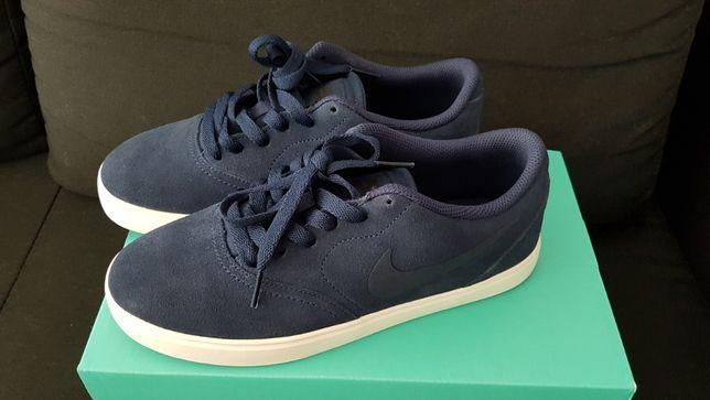 Подростковые кроссовки Nike SB Check Suede из на.замши Navy,оригинал