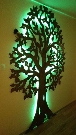 Ozdoba, dekoracja, duże drzewo dla dzieci i dorosłych