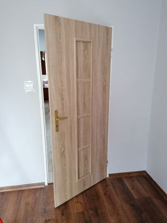 Drzwi wewnętrzne Olga dąb sonoma jednoskrzydłowe 80 cm prawe