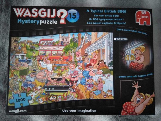 Puzzle Wasgij Mystery 15 A typical british BBQ Jumbo Komplet