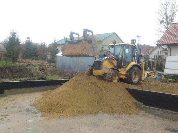 Pracę ziemne Piasek do zasypywania fudametów wykopy transport