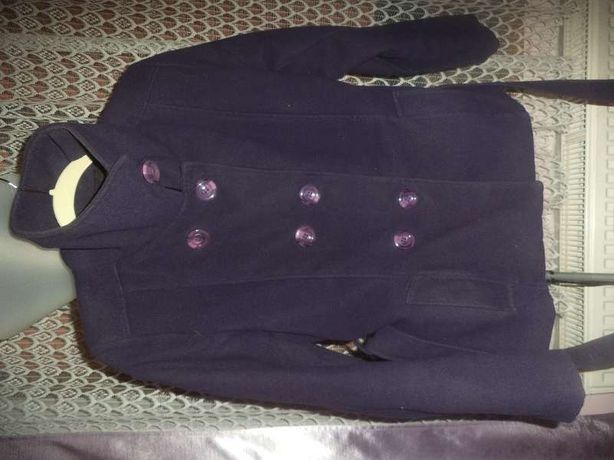 Płaszczyk zimowy fioletowy