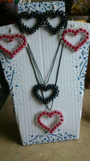 Biżuteria komplet z koralików 15 zł.