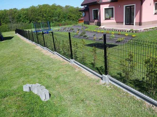 Kompletne ogrodzenie panelowe 48zl metr bieżący ocynk + kolor !