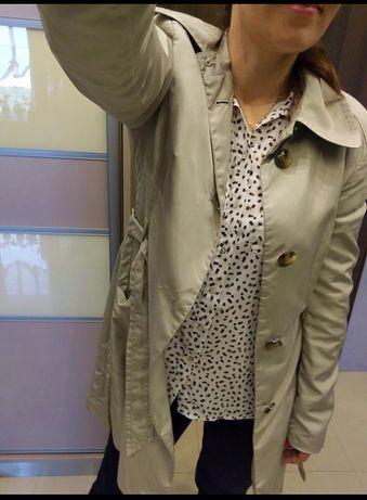 Trencz płaszcz Mexx jak Reserved modny beżowy jesienny r.36