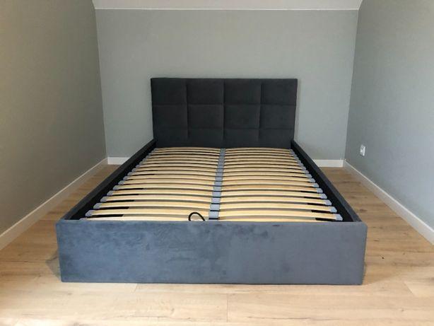 Łóżko tapicerowane Tina Stelaż drewniany + pojemnik OKAZJA !!