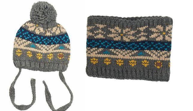 RESERVED czapka komin komplet zimowy