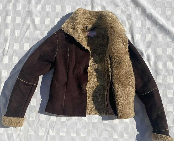 CASACO PELO marrom tipo jaqueta , lindoo e quente 8 anos otimo estado