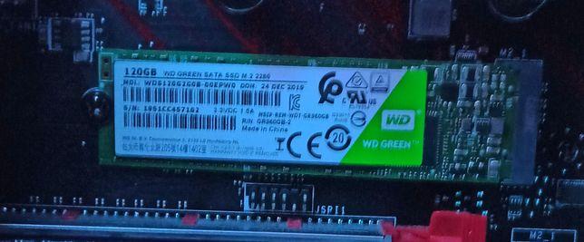Dysk komputerowy ssd m2 wd green 120gb
