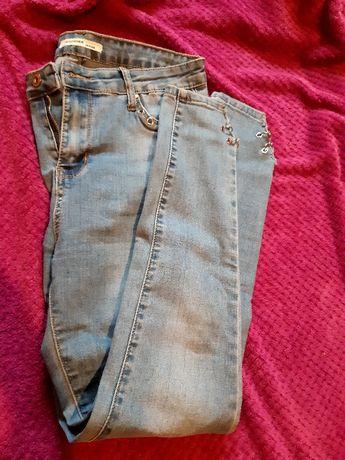 Jeansowe elastyczne spodnie