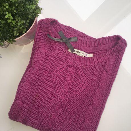 Różowa tunika sweterek reserved dziewczynka 152cm