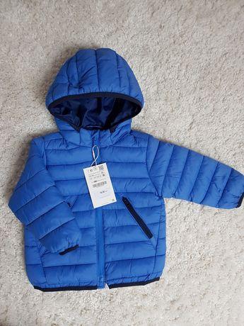 ZARA 86 nowa kurtka wiosenna niebieska pikowana kurteczka