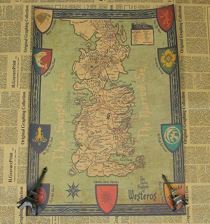 Poster NOVO com o mapa do Game of Thrones