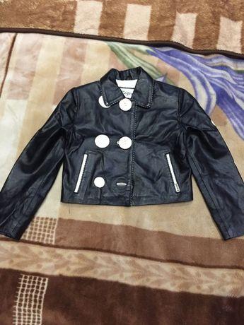 Кожаный турецкий пиджак на девочку 3-х лет