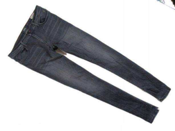 Spodnie jeansy rurki, slim fit, wysoki i szczupły, 33/34
