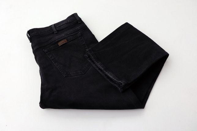 Męskie spodnie jeansy Wrangler REGULAR FIT W38 L32 czarne jak nowe