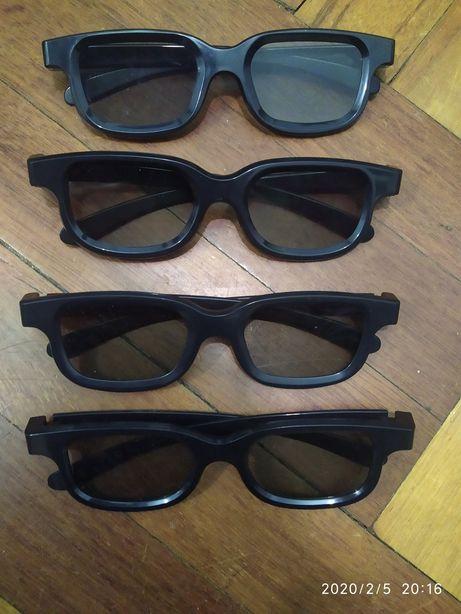 Очки 3D. Цена за 4шт.