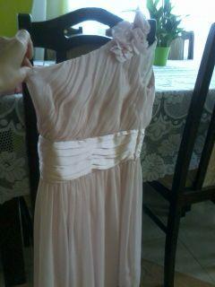 Sukienka na wesele, chrzciny, komunie, okolicznosciowa pudrowy róż