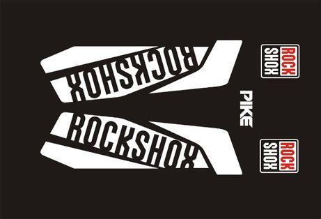 PIKE ROCK SHOX białe naklejka na amortyzator