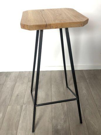 Industrialne krzesła barowe - hokery