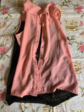 Блузка шифоновая с просвещающей спинкой