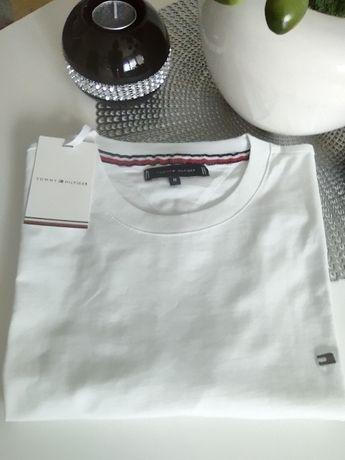 Tommy Hilfiger koszulka BIAŁA-Piękna