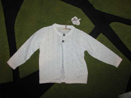 Nowy sweterek rozm 74/80 ażurkowy