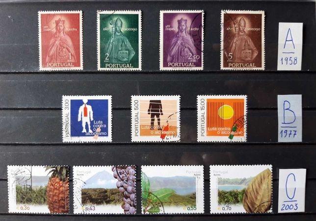 Selos de Portugal-Séries completas
