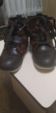 Зимние ботинки для мальчика. кожа+замш