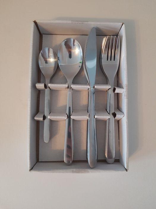 Komplet sztućców łyżeczki łyżki noże widelce 24 sztuki stal nierdzewna Mogilno - image 1