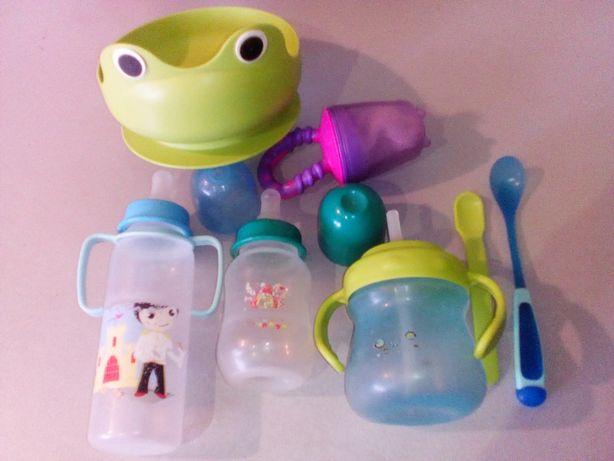 Детские принадлежн. для кормления IKEA.Бутылочки грызун миска ложечки.