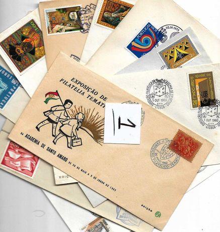 lote de 10 peças de Historia postal