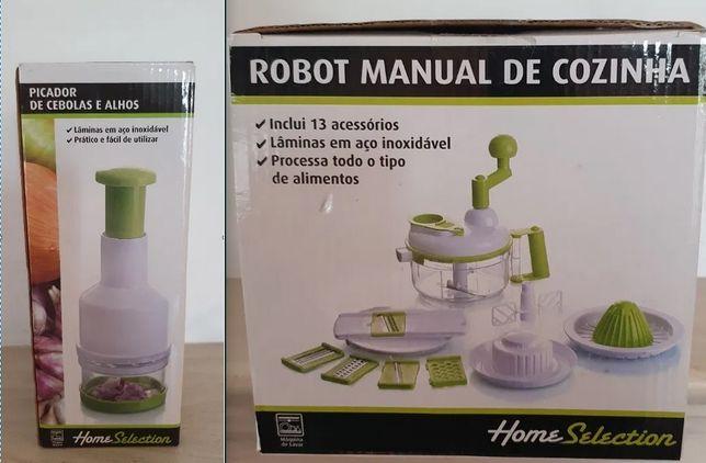 Robot de cozinha manual e Picador de cebolas e alhos (NOVO )