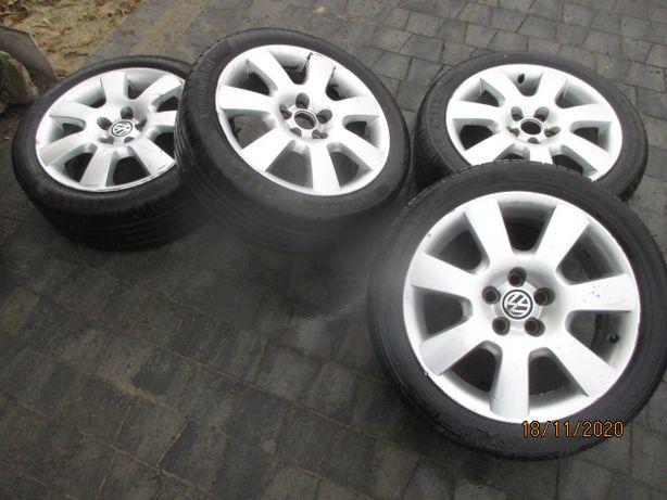 KOŁA VW Polo 9N Felgi aluminiowe 6,5Jx16H2 ET42 Opony 205/45R16