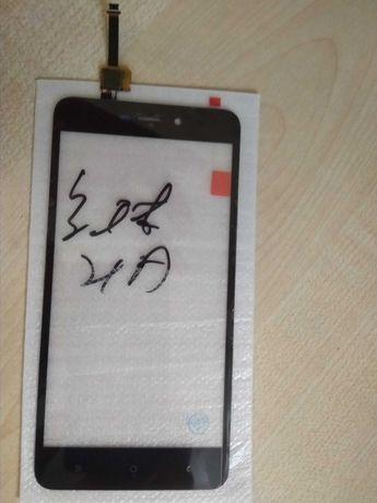 Xiаomi Redmi 4A сенсор тачскрин новый, защитное стекло