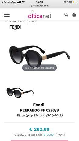 Oculos de sol fendi como novos