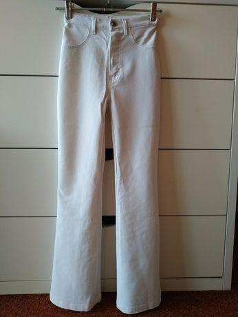 Школьные белые классические штаны завышенные
