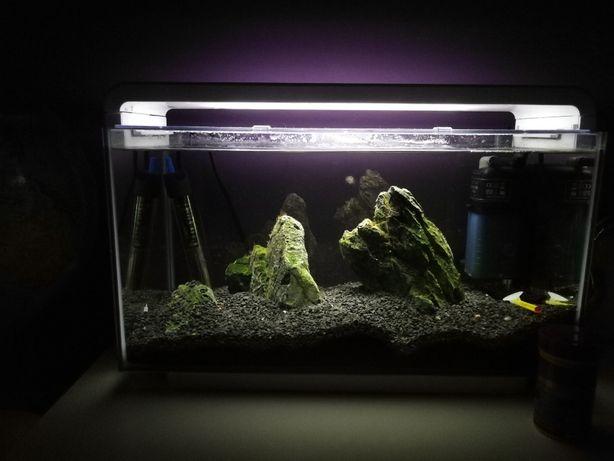 Akwarium HAILEA E-25 25L białe Oświetlenie LED /MEGA ZESTAW/