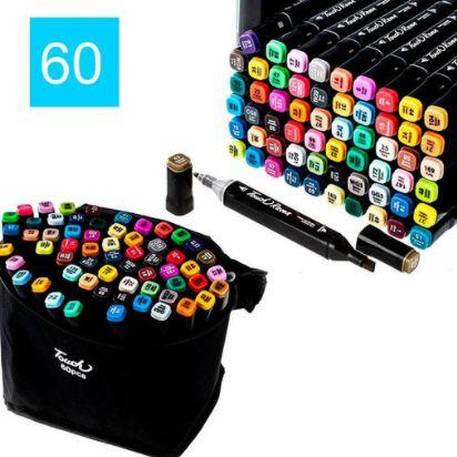 Набір скетч-маркерів 60 шт. для малювання двосторонніх Touch sketchmar