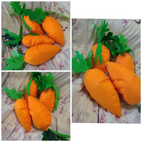 Морковь из фетра, мягкие игрушки, овощи из фетра