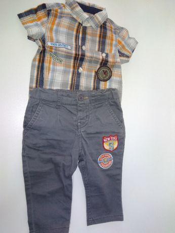 Camisa body, calça e gorro menino 3 a 6 meses, marca prenatal