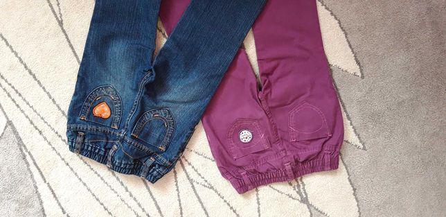 Spodnie (2 pary) dla dziewczynki roz. 86