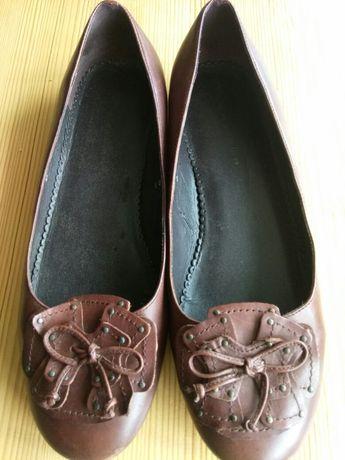 Туфли, балетки Wider fit. Кожа