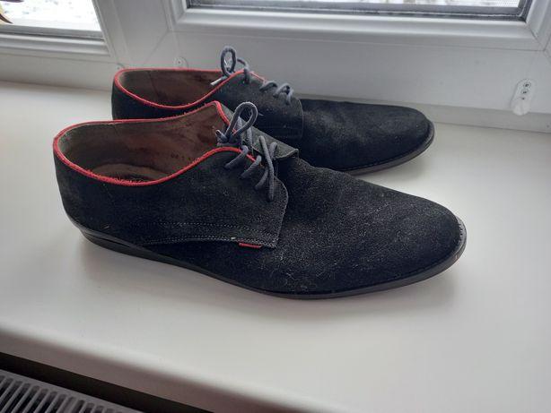 Чоловічі натуральні замшеві туфлі р.43 (Польща)