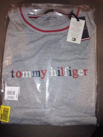 Koszulka TOMMY HILFIGER NOWA Oryginał  haftowane logo szara