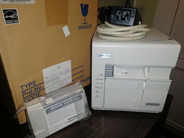 Цветной принтер этикеток Epson TM-C610