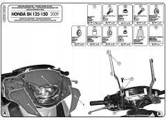 Honda Sh 125 stelaż GIVI A315A